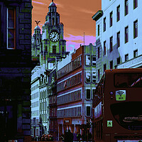 Buy canvas prints of Liverpool pop art by Kevin Elias