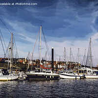Buy canvas prints of whitby harbor poster by Kevin Elias