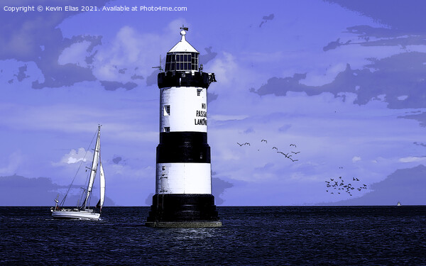 Penmon lighthouse poster. Framed Mounted Print by Kevin Elias