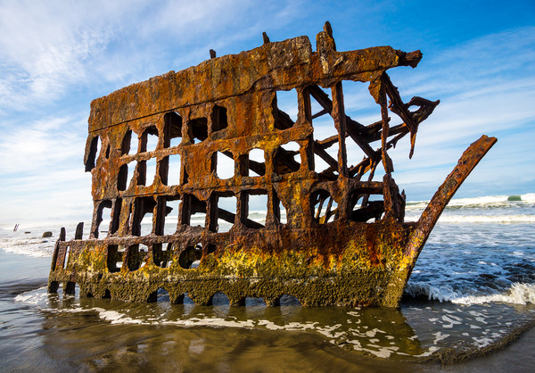 Peter Iredale Shipwreck - Oregon Pacific Coast Framed Print by Gary Whitton