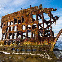 Buy canvas prints of Peter Iredale Shipwreck - Oregon Pacific Coast by Gary Whitton