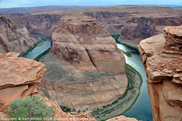 Horseshoe Bend - Colorado River Canvas print by Gary Whitton