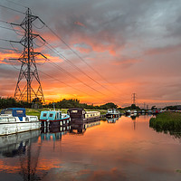 Buy canvas prints of Summer Canal Sunset by Amanda Ainsley
