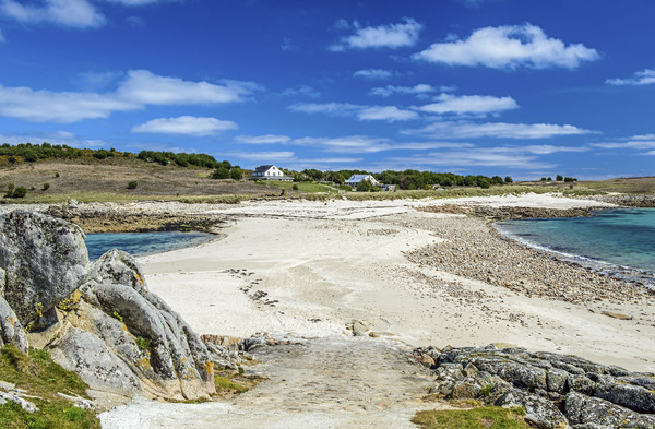 The Bar between Gugh and St Agnes Scillies Canvas print by Nick Jenkins