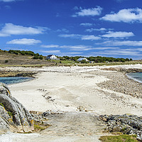 Buy canvas prints of The Bar between Gugh and St Agnes Scillies by Nick Jenkins