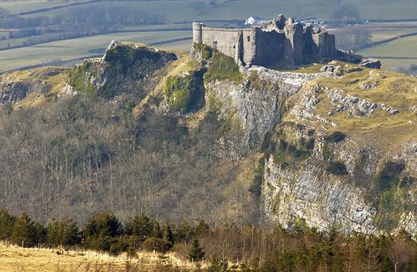 Carreg Cennen Castle Black Mountain Wales Canvas print by Nick Jenkins