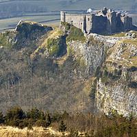 Buy canvas prints of Carreg Cennen Castle Black Mountain Wales by Nick Jenkins