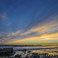 Buy canvas prints of Evening Sky over Nash Point by Nick Jenkins