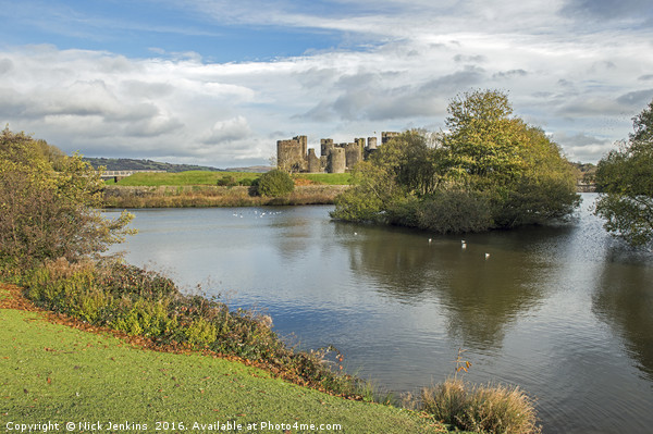 Caerphilly Castle  Canvas print by Nick Jenkins