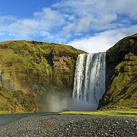 Buy canvas prints of Skogafoss Waterfall Iceland by Nick Jenkins