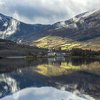 Buy canvas prints of Reflections on Loch Leven North West Scotland by Nick Jenkins