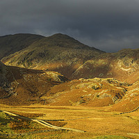 Buy canvas prints of Coniston Fells Autumn Lake District by Nick Jenkins