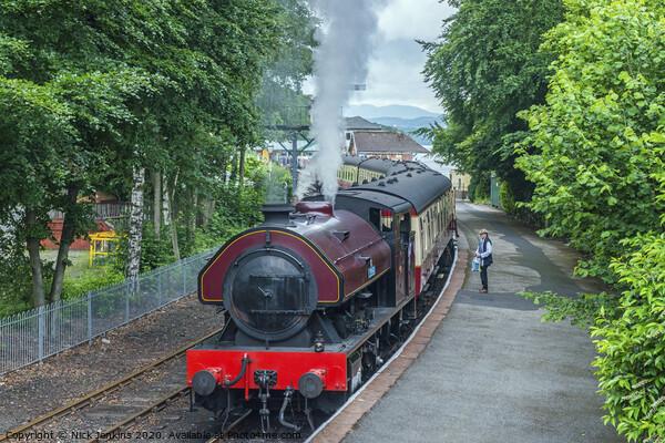 Steam Locomotive Lakeside and Haverthwaite Railway Framed Print by Nick Jenkins