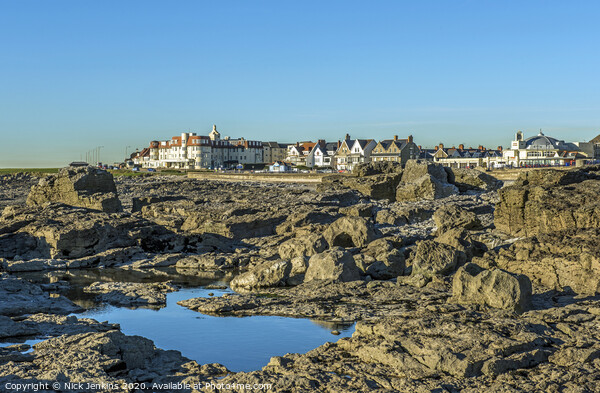 Porthcawl, a busy town on the south Wales coast and popular with visitors. Print by Nick Jenkins