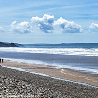 Buy canvas prints of Newgale Beach on the Pembrokeshire Coast  by Nick Jenkins