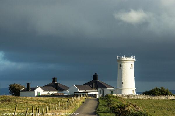 Nash Point Old Lighthouse on the Glamorgan Heritage Coast Print by Nick Jenkins