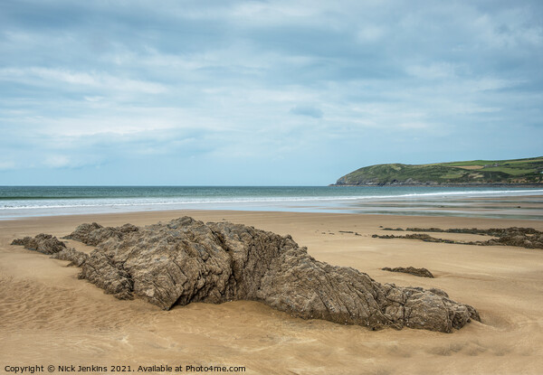 Croyde Bay on the North Devon Coast in September  Canvas Print by Nick Jenkins