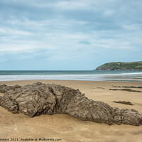 Buy canvas prints of Croyde Bay on the North Devon Coast in September  by Nick Jenkins