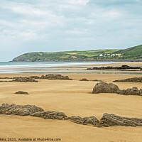 Buy canvas prints of Looking across Croyde Bay North Devon Coast by Nick Jenkins