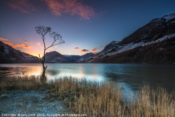 Buttermere Sunrise, lake district. Canvas print by gary ward