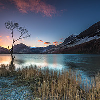 Buy canvas prints of Buttermere Sunrise, lake district. by gary ward