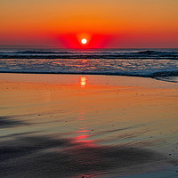 Buy canvas prints of Croyde November Sunset by Eric Pearce (AWPF,