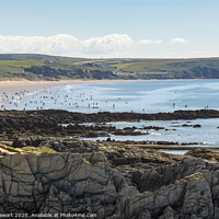 Buy canvas prints of Woolacombe Bay, North Devon by Heidi Stewart