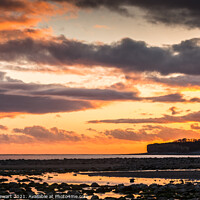 Buy canvas prints of Sunset on Llantwit Beach by Heidi Stewart