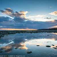 Buy canvas prints of Cloudscape at Llantwit Beach by Heidi Stewart