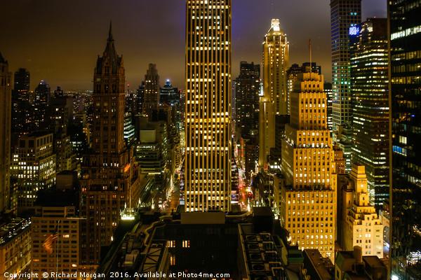 Downtown New York. Canvas print by Richard Morgan