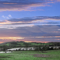 Buy canvas prints of Buildwas fields by simon alun hark