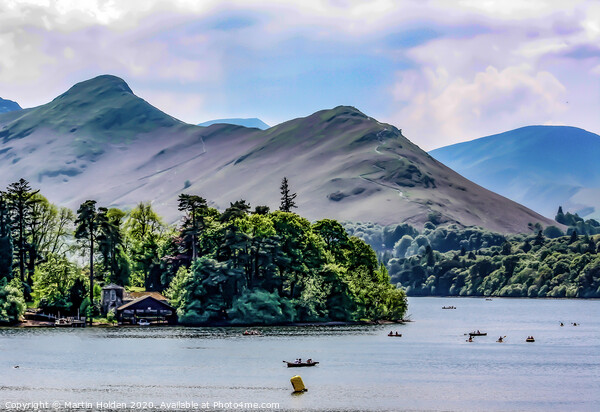 Cat Bells and Derwent Water Canvas Print by Martin Holden