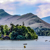 Buy canvas prints of Cat Bells and Derwent Water by Martin Holden