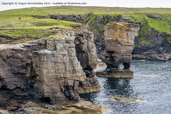Yesnaby Castle sea stack, Mainland Orkney #2 Canvas Print by Angus McComiskey