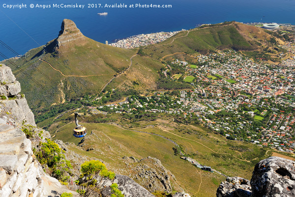 Cape Town from Table Mountain Canvas print by Angus McComiskey