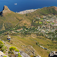 Buy canvas prints of Cape Town from Table Mountain by Angus McComiskey