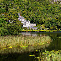 Buy canvas prints of Kylemore Abbey in Connemara, County Galway by Angus McComiskey