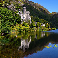 Buy canvas prints of Kylemore Abbey reflections, County Galway by Angus McComiskey