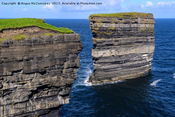 Sea cliffs Downpatrick Head, County Mayo, Ireland Canvas Print by Angus McComiskey