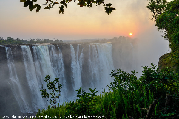 """""""The smoke that thunders"""" - Victoria Falls sunrise Canvas print by Angus McComiskey"""