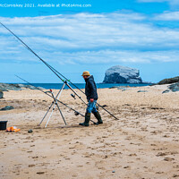 Buy canvas prints of North Berwick sea angler by Angus McComiskey