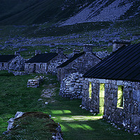 Buy canvas prints of The Street at dusk, St. Kilda, Scotland by Alan Crawford
