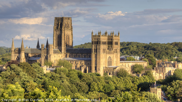 Durham Cathedral Canvas print by Alan Crawford