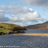 Buy canvas prints of Ardvreck Castle at Loch Assynt, Scotland by Alan Crawford