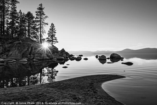 Beautiful Sand Harbor in Lake Tahoe. Acrylic by Jamie Pham
