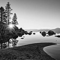 Buy canvas prints of Beautiful Sand Harbor in Lake Tahoe. by Jamie Pham