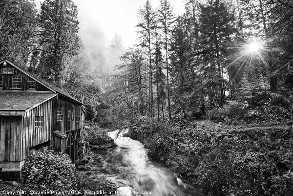 The Cedar Creek Grist Mill in Washington State. Canvas print by Jamie Pham