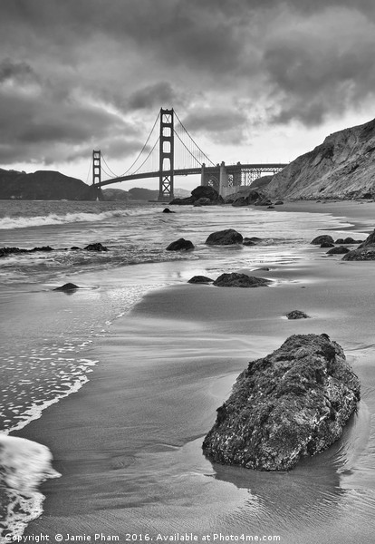 Beautiful view of the Golden Gate bridge from Mars Acrylic by Jamie Pham