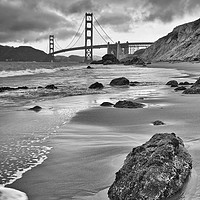 Buy canvas prints of Beautiful view of the Golden Gate bridge from Mars by Jamie Pham