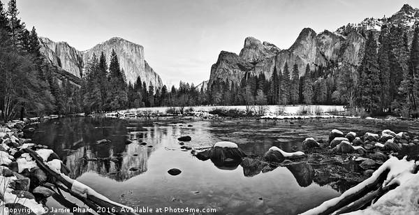 Dramatic view of Yosemite Valley. Acrylic by Jamie Pham